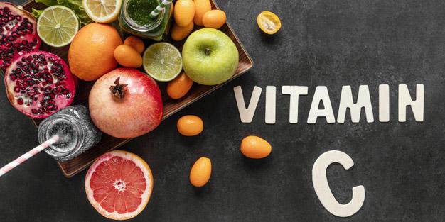 Asupan baik untuk tubuh, Buah-buahan dan sayuran yang kaya akan vitamin C